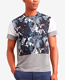 Kenneth Cole Men's Colorblocked Printed T-Shirt
