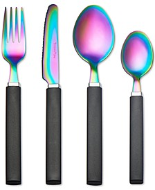 Tomodachi  Rainbow 17-Pc. Flatware Set, Service for 4