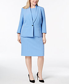 Kasper Plus Size One-Button Jacket & Sheath Dress