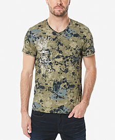 Buffalo David Bitton Men's Camo V-Neck T-Shirt