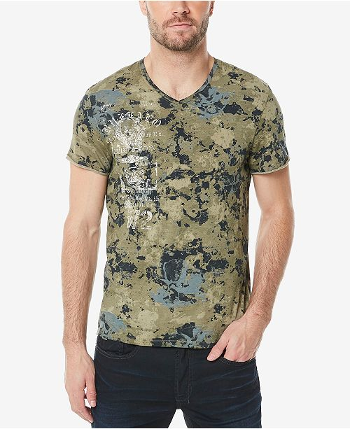 b2cac46b8eff Buffalo David Bitton Men's Camo V-Neck T-Shirt & Reviews - T-Shirts ...