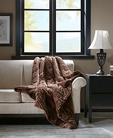 "Premier Comfort Parker 60"" x 70"" Corduroy Plush Down-Alternative Throw"