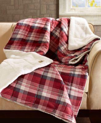 "Tasha Reversible 50"" x 70"" Softspun Down-Alternative Throw"