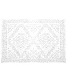 "LAST ACT! Idea Nuova Cotton 17"" x 24"" Diamond Medallion Jacquard Bath Rug"