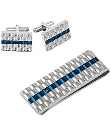Men's 2-Pc. Set Cuff Links & Money Clip in Stainless Steel