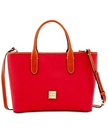 Brielle Pebble Leather Satchel