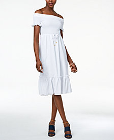 MICHAEL Michael Kors Petite Off-The-Shoulder Knit Dress, Created for Macy's