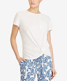 Lauren Ralph Lauren Petite Twist-Knot T-Shirt