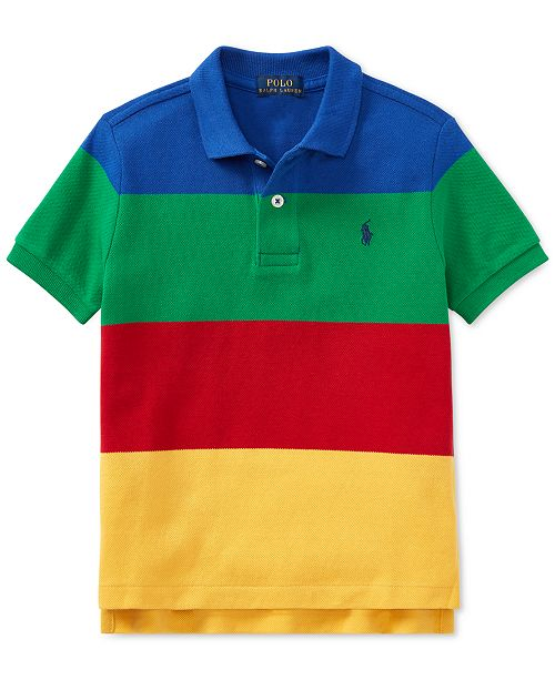 53d2f6adab618 ... Polo Ralph Lauren Little Boys CP-93 Striped Cotton Mesh Polo Shirt ...