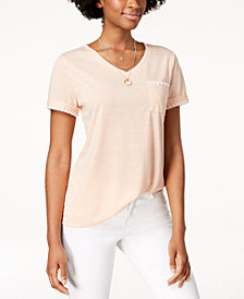 Style & Co Whip-Stitch Pocket T-Shirt, Created for Macy's