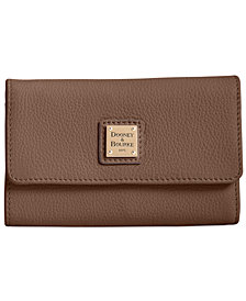 Dooney & Bourke Belvedere Flap Pebble Leather Wallet