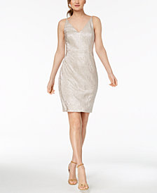 Calvin Klein Metallic Sheath Dress