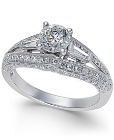 Diamond Split Shank Engagement Ring (1-1/2 ct. t.w.) in 14k White Gold