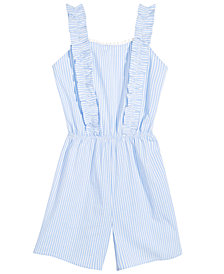 Monteau Big Girls Striped Romper