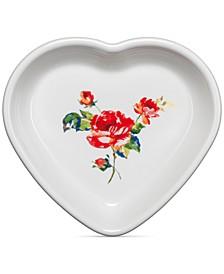 Floral Bouquet Medium Heart Bowl