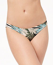 Roxy Palm-Print Cheeky Bikini Bottoms