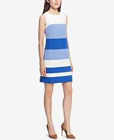 Tommy Hilfiger Colorblocked Scuba Sheath Dress