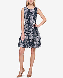 Tommy Hilfiger Ruffled Fit & Flare Dress