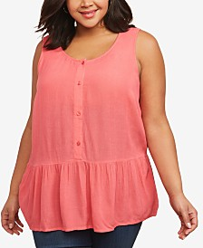 Motherhood Maternity Plus Size Peplum Nursing Top