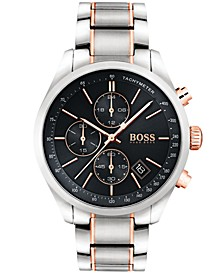 Hugo Boss Men's Chronograph Grand Prix Two-Tone Stainless Steel Bracelet Watch 44mm