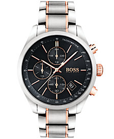 BOSS Hugo Boss Men's Chronograph Grand Prix Two-Tone Stainless Steel Bracelet Watch 44mm