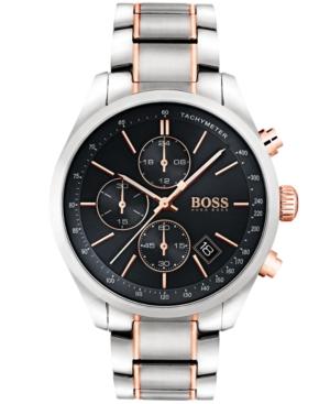 Boss Hugo Boss Men's Chronograph Grand Prix Two-Tone Stainless Steel Bracelet Watch 44mm