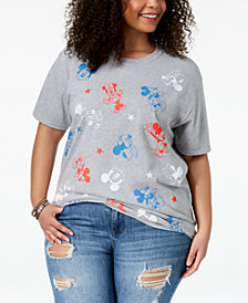 Disney Plus Size Minnie & Mickey Mouse T-Shirt