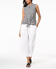 Eileen Fisher Printed Tunic & Cropped Pants
