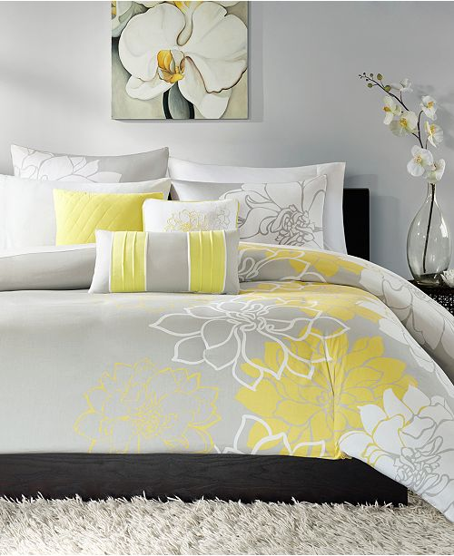 Madison Park Lola 6 Pc Full Queen Duvet Cover Set