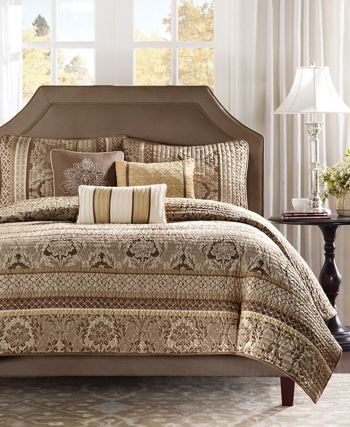 Madison Park - Bellagio 6-Pc. Quilted Full/Queen Coverlet Set