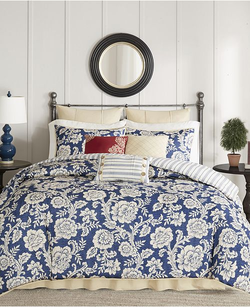 Madison Park Lucy Cotton Reversible 9-Pc. Bedding Sets