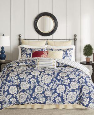 Madison Park Lucy Cotton Reversible 9-Pc. Queen Duvet Set Bedding 6044330