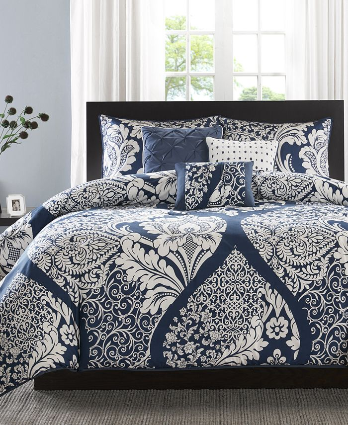 Madison Park - Vienna 6-Pc. Full/Queen Duvet Cover Set