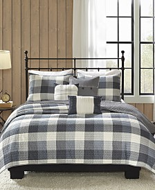 Madison Park Ridge 6-Pc. King/California King Coverlet Set