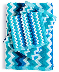 LAST ACT! Cobra Zig-Zag Cotton Jacquard Bath Towel