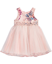 Bonnie Baby Baby Girls Rose Brocade Ballerina Dress