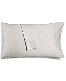 Hotel Collection Cotton 525-Thread Count Crosshatch Pair of King Pillowcases, Created for Macy's