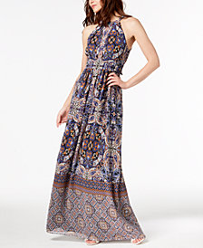 I.N.C. Petite Multi-Border Maxi Dress, Created for Macy's