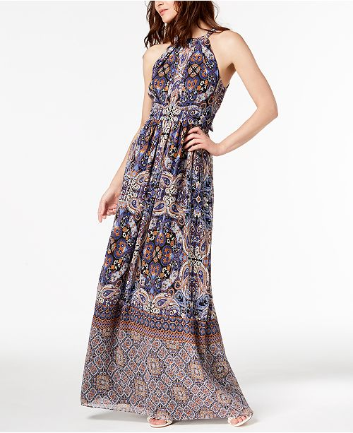 Dress I Border C INC Maxi N Multi Concepts International Petite Macy's for Multi Created Border 4wffzgq0