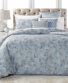 Hotel Collection Speckle Cotton Printed King Duvet Cover, Created for Macy's