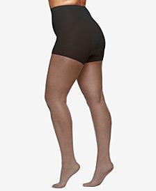 Berkshire Women's  Queen Plus Size Shimmers Ultra Sheer Control Top Pantyhose 4412