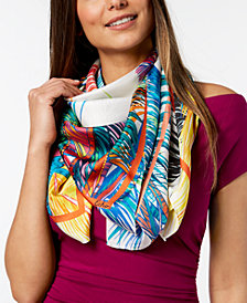 Echo Tasam Palms Silk Square Scarf
