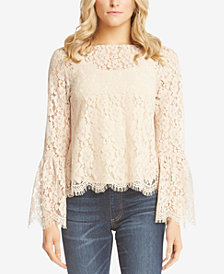 Karen Kane Bell-Sleeve Lace Top