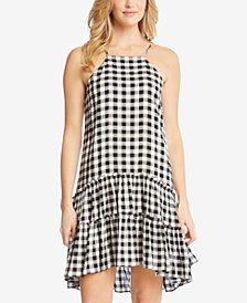 Karen Kane Gingham Drop-Waist Dress