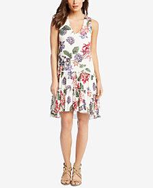 Karen Kane Floral-Print Drop-Waist Dress