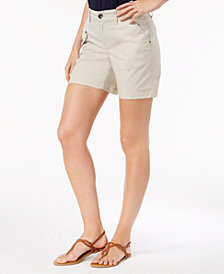 Style & Co Petite Flap-Pocket Shorts, Created for Macy's