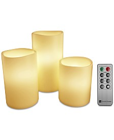 4-Pc. Flameless LED Candles Set & Remote Control