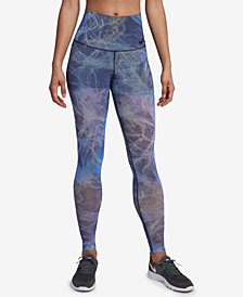Nike Power Printed Mesh-Overlay Workout Leggings