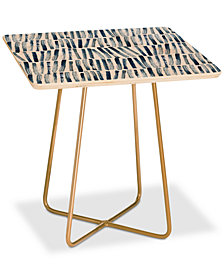 Deny Designs Dash and Ash Strokes and Waves Square Side Table