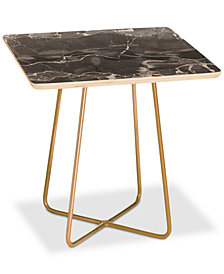 Deny Designs Emanuela Carratoni Grey Square Side Table